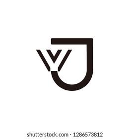 vj letter vector logo