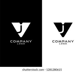 vj/jv Initial abstract company Logo Template Vector