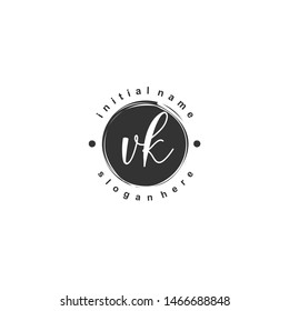 VK Initial beauty monogram logo vector