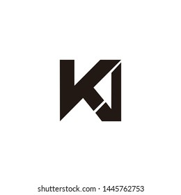vka letter logo vector initial font