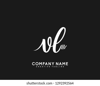 VL Initial Handwriting Logo Template Vecto