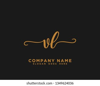 VL Initial Handwriting Logo Vector