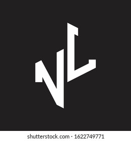VL Initial Letters logo monogram with up to down style
