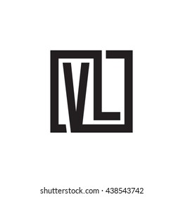 VL initial letters looping linked square monogram logo