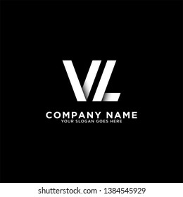 VL initial logo vector, initial brand name, clean and strong company logo design