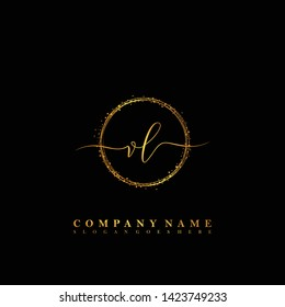 VL Initial luxury handwriting logo vector