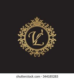 VL initial luxury ornament monogram logo