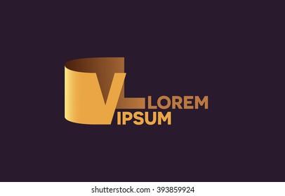 VL letters logo, V and L letters logo alphabet design.