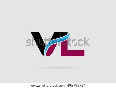 Vl Logo Stock Vektorgrafik Lizenzfrei 495783724 Shutterstock