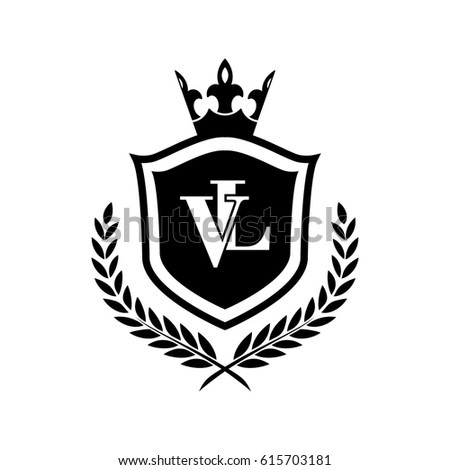 Vl Logo Stock Vektorgrafik Lizenzfrei 615703181 Shutterstock
