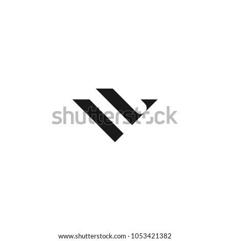 Vl Logo Design Template Stock Vector Royalty Free 1053421382