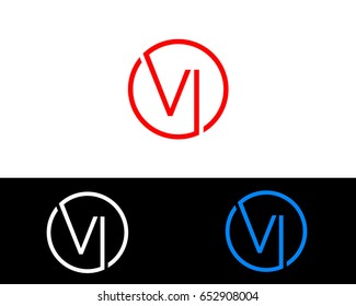 Vl Logo. Letter Design Vector with Red and Black Gold Silver Colors