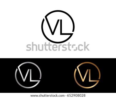 Vl Logo Letter Design Vector Red Stock Vektorgrafik Lizenzfrei
