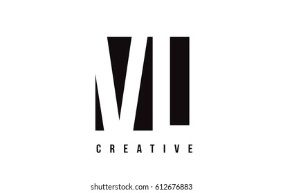 VL V L White Letter Logo Design with Black Square Vector Illustration Template.