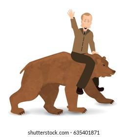 Putin On Bear Images Stock Photos Vectors Shutterstock