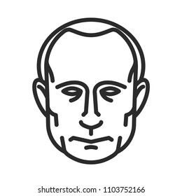 Vladimir Putin. Vector icon. June 01, 2018.
