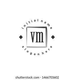 VM Initial beauty monogram logo vector