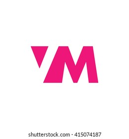VM Logo. Vector Graphic Branding Letter Element. White Background