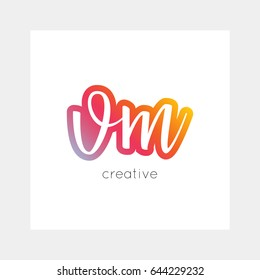 VM logo, vector. Useful as branding, app icon, alphabet combination, clip-art.