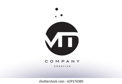 VM V M alphabet company letter logo design vector icon template simple black white circle dot dots creative abstract