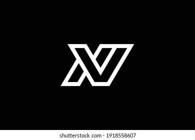 VN letter logo design on luxury background. NV monogram initials letter logo concept. VN icon design. NV elegant and Professional white color letter icon design on black background.
