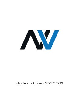 VN or NV abstract outstanding professional business awesome artistic branding company different colors illustration logo