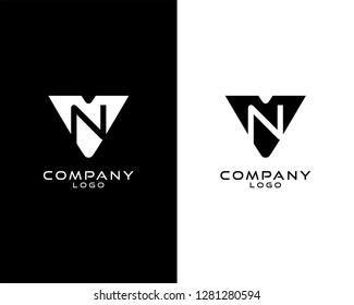 vn/nv Initial abstract company Logo Template Vector