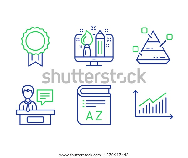 Vocabulary Creative Design Reward Line Icons Stock Vector Royalty Free 1570647448