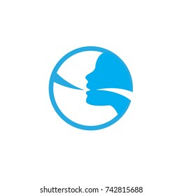 Vocal cord icon w person image vector illustration