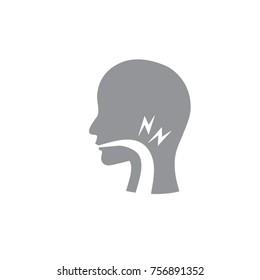 Vocal cord icon w person image vector illustration
