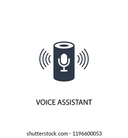 voice assistant icon. Simple element illustration. voice assistant concept symbol design. Can be used for web and mobile.