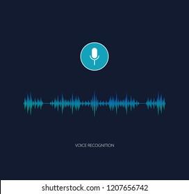 Voice assistant vector. Voice recognition