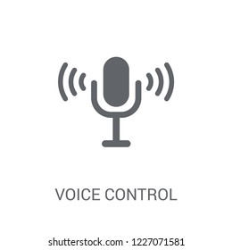 Voice control icon. Trendy Voice control logo concept on white background from Smarthome collection. Suitable for use on web apps, mobile apps and print media.