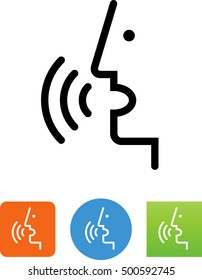 Voice control / person talking icon