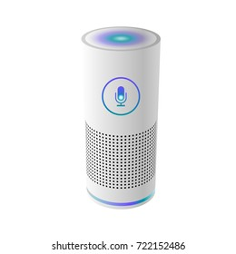 Voice control user interface smart speaker vector illustration