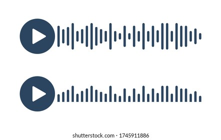 Voice message icon for your chat design. Record vector concept in flat style.