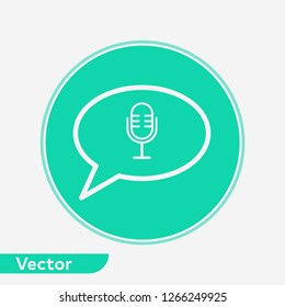 Voice message vector icon sign symbol
