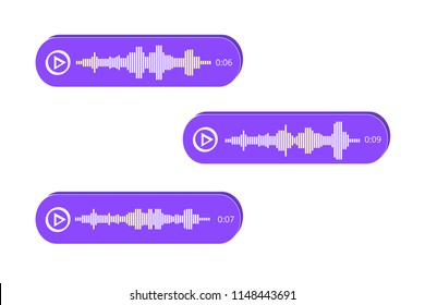Voice Messages icon, event notification. Vector illustration