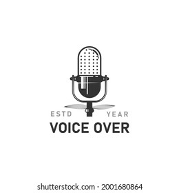 Voice over logo design concept isolated on white background