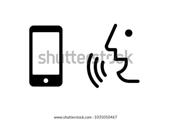 Voice Recognition Concept Voice Control Mobile Stock Vector