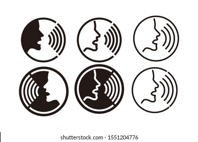 Voice recognition concept icon template color editable. Voice control symbol vector sign isolated on white background. Simple logo vector illustration for graphic and web design.