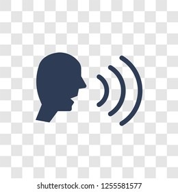 Voice recognition icon. Trendy Voice recognition logo concept on transparent background from Artificial Intelligence collection