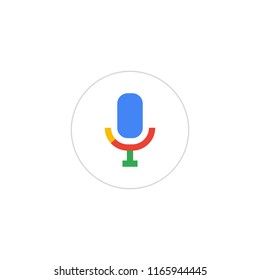 Voice search. Microphone icon for voice search. Vector Illustration.