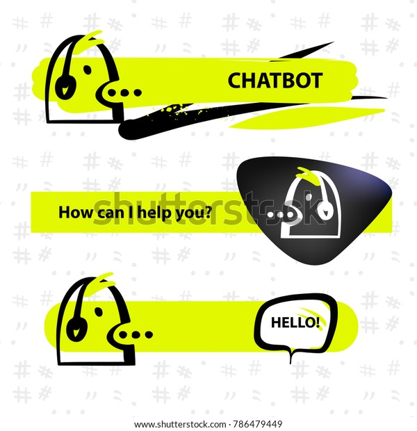 Voice Service Chat Bot Virtual Online Stock Vector (Royalty