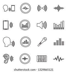 Voiceover Icons. Thin Line Design. Vector Illustration.