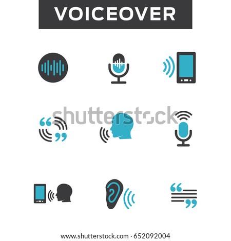 voiceover voice command icon sound wave のベクター画像素材