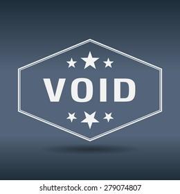 void hexagonal white vintage retro style label