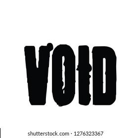 Void stamp on white background