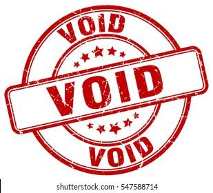 void. stamp. red round grunge vintage void sign