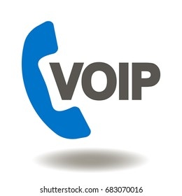 VOIP Vector Icon. Voice over IP Illustration.